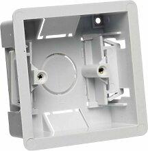 Trockenbau Unterputzdose Gerätedose mit Einfachgehäuse, 35 mm, Weiß