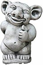 Troll mit Daumen hoch, Figur aus Steinguss