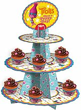 Trolls 338002Etagere/Cupcake-Karton Mehrfarbig