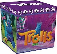 Trolls Pat Patrouille Aufbewahrungsbox Stoff/Holz, Stoff, violett, 30 x 30 x 30 cm