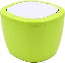 TROM Mülleimer Creative Desktop Mülleimer Mini Schreibtisch Küche Haushalt Wohnzimmer Schlafzimmer Mülleimer Größe 16,5 * 12 * 12,4Cm , Yellow