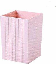 TROM Mülleimer Creative Mülleimer Haushalt Küche Toilette Speicher Bin Desktop Mini Mülleimer Größe 16,5 * 22,5 * 15Cm , Pink