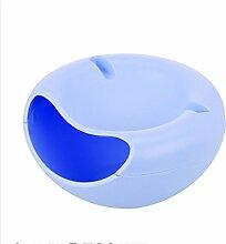 TROM Mülleimer Desktop Mülleimer Creative Home Wohnzimmer Schlafzimmer Küche Tisch Mini Mülleimer Größe 21,2 * 17 ** 11,5Cm , Blue