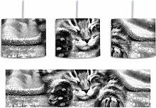 Trommel-Pendelleuchte 1-flammig Baby-Katze, rote