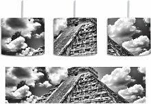 Trommel-Pendelleuchte 1-flammig Maya Pyramide in