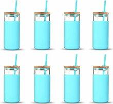 Tronco Glas-Trinkflasche, 590 ml, mit