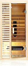 TroniTechnik Infrarotkabine Sauna Keramikstrahler Karbon Bodenstrahler 90cm x 90cm x 190cm