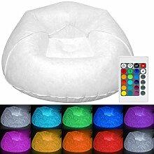 Tronje aufblasbarer XL LED-Sessel Weiß