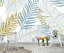 Tropenblatt Tapete für Wohnzimmerdruck Tapete 3d