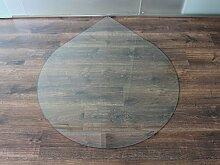 Tropfen 90cm - Funkenschutzplatte Klarglas