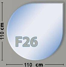 Tropfenform F26 Funkenschutzplatte - Glasplatte