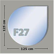 Tropfenform F27 Funkenschutzplatte - Glasplatte