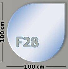 Tropfenform F28 Funkenschutzplatte - Glasplatte