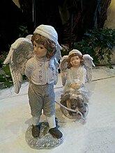 Tropica | Engel Figuren Paar mit Schlitten 25x19