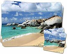 Tropical Seychellen Strand Twin 2x Platzsets +