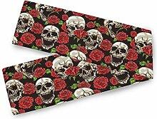 TropicalLife BGIFT Halloween Totenkopf Blume Rose