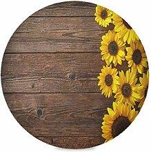 TropicalLife Bgift Runde Tischsets aus Holz,