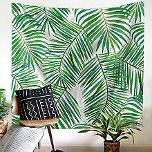 Tropisch Pflanzen Blätter Wandteppich Wandbehang