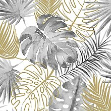Tropische Blätter Tapete Grau Muriva L604-09