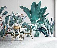 Tropische Blätter Tapete Schlafzimmer kreative
