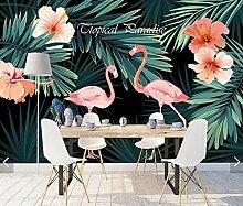 Tropische Blume Flamingo Tapete Wandbild Für