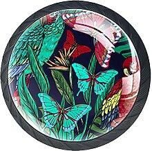 Tropische Blumen und Pflanzen, 4er-Pack ABS-Harz