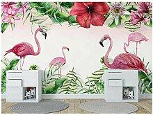 Tropische Flamingo-Tapete, 3D-Fototuch,