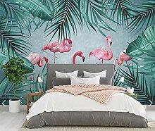 Tropische Flamingo Tapete Wandbild Für Wohnzimmer