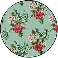 Tropische Pflanze Blätter Hibiskus Runde