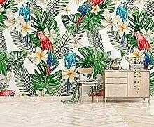 Tropische Pflanze Blatt Papagei Blume Wallpaper