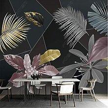 Tropische Pflanze Blume Blatt Geometrische Tapete