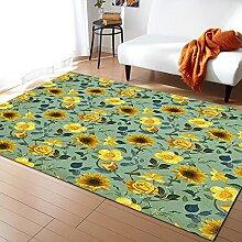 Tropische Pflanze Dschungelblatt Teppich Für