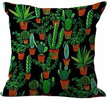 Tropische Pflanze Muster Quadratische Leinen