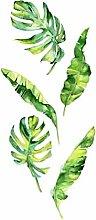 Tropische Regenwald Pflanze Wandaufkleber Grün