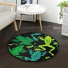 Tropische Sommerfrosch Runde Teppich für