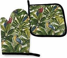 Tropische Vögel Exoti Blatt Dschungel Trippy