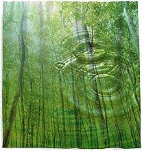 Tropische Wälder Grüne Blätter Duschvorhang mit