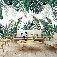 Tropischer Regenwald Pflanze 3D Wandmalerei Grüne