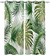 Tropisches Blatt Moderne Fenster Vorhänge für