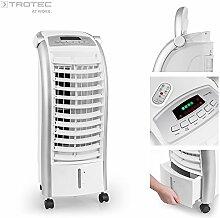 TROTEC Aircooler / mobiles Klimagerät PAE 25 4 in 1 - Gerät: Luftkühler, Ventilator, Luftbefeuchter, und Lufterfrischer (inkl. flüsterleisem Nachtmodus, Fernbedienung, LED-Display uvm.)