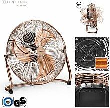 TROTEC TVM 17 Bodenventilator Kupfer Design Ventilator/ Windmaschine | 3 Geschwindigkeitsstufen | 120 Watt Leistung | Durchmesser 45 cm