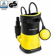 TROTEC TWP 4005 E Klarwasser Tauchpumpe flachsaugend, 400 Watt Leistung, bis zu 7.000 Liter Wasser (max. 7,5 m Tiefe), Fremdkörper bis 5 mm, Automatisches Ein- und Ausschalten