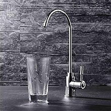 TRRE-Alle Kupfer einzigen kalten Gemüse Becken Spüle Küchenarmatur reine Wasserfilter Trinkwasser drehbar
