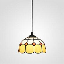 TRRE-Mittelmeer Single Head Kronleuchter Tiffany-Lampen Schlafzimmer Modernes unbedeutendes