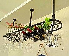 TRRE@ Weinglas-Halter, hängende Weinregal, europäische Bar Weinregal, hängende Glasregal Regale ( Farbe : Weiß )