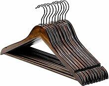 TRUBUY Kleiderbügel aus Holz, 10 Stück
