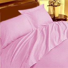 True 4Stück-Bettlaken-Set Die Grand 350TC Pink gestreift Euro extra small single 100% ägyptische Baumwolle extra tief Pocket (26Zoll)–von TRP Blatt–B19