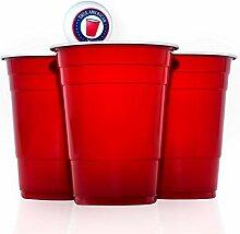 True American Beer Pong Becher Set - 100 Original