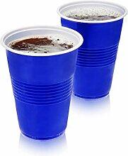 True Blue Party Cups Partybecher, Kunststoff,