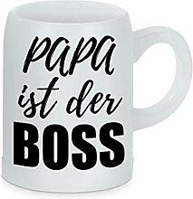 True Statements Bierkrug Papa ist der Boss -